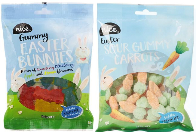 Gummy bunnies and carrots