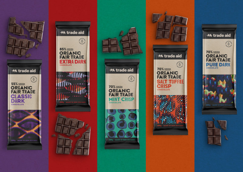 Trade Aid 100g chocolate bars